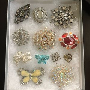 FREE Gem/Crystal Brooch with any purchase!